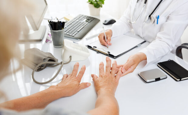 Pain and stiffness in hands from arthritis