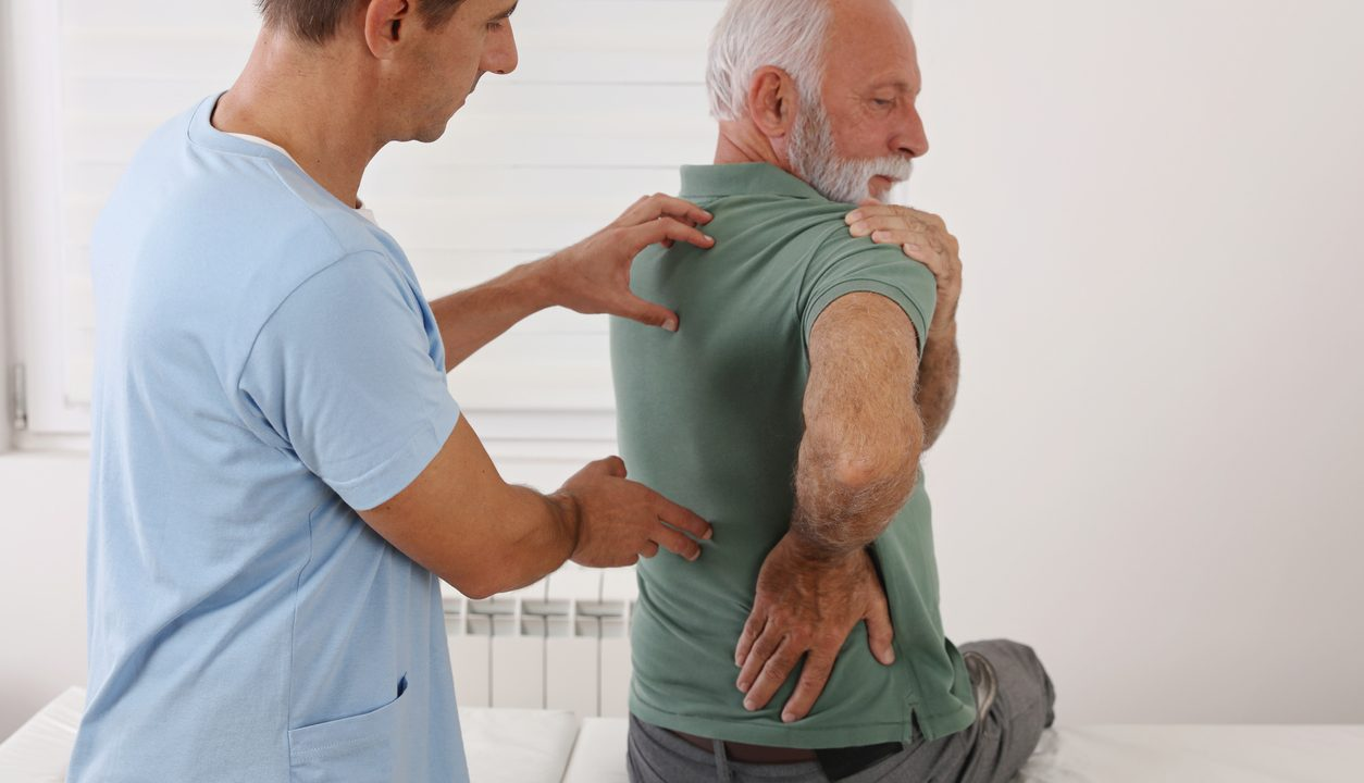 man with spinal stenosis