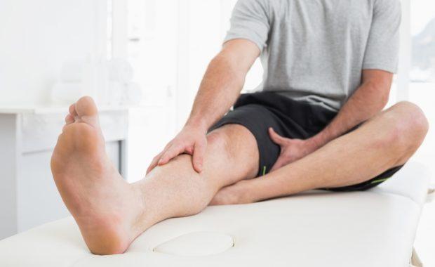 man with leg pain